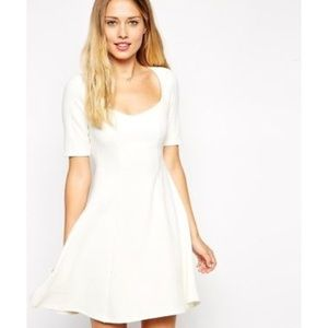 Asos Dress 6 Skater Fit & Flare Sweetheart Neck S